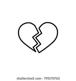 Outline heart emoji black ♥️