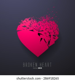 Broken Heart,Vector Graphics
