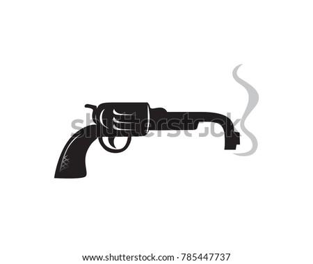 Broken Pistol Symbol Masculinity Impotency Stock Vector Royalty