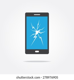 Broken Screen Phone Icon