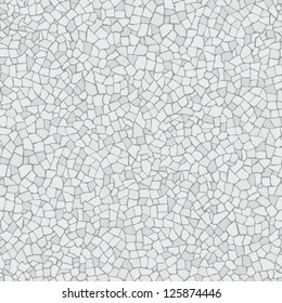 Broken tiles mosaic (trencadis) white pattern