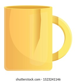 Broken yellow mug icon. Cartoon of broken yellow mug vector icon for web design isolated on white background