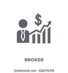 Broker icon. Broker design concept from Payment collection. Simple element vector illustration on white background.