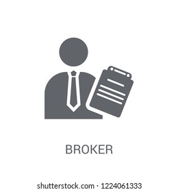 Broker icon. Trendy Broker logo concept on white background from business collection. Suitable for use on web apps, mobile apps and print media.