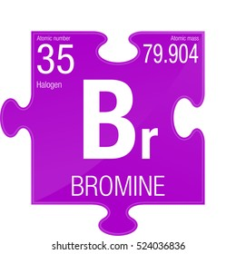 bromine symbol element number 35 of the periodic table of the elements chemistry