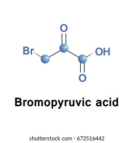 Bromopyruvic acid and its alkaline form, bromopyruvate, are synthetic brominated derivatives of pyruvic acid. They are lactic acid and pyruvate analogs