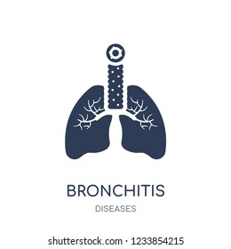 Bronchitis icon. Bronchitis filled symbol design from Diseases collection. Simple element vector illustration on white background