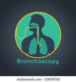 Bronchoscopy vector logo icon illustration