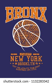 Bronx Basketball graphic design vector art