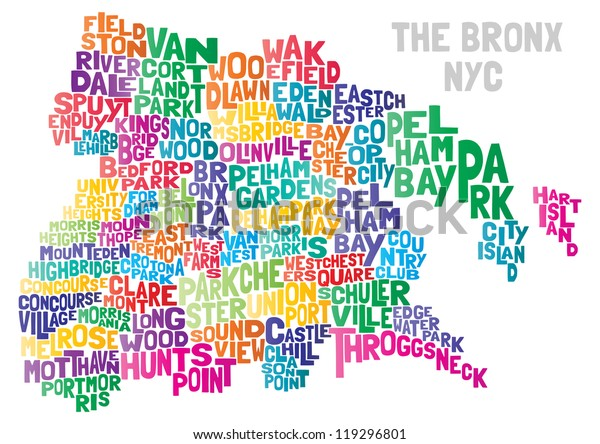 Bronx NYC Typographical Abstract