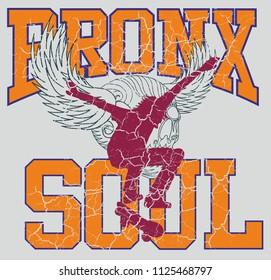 Bronx skateboard graphic design vector art