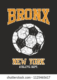 Bronx soccer ball graphic design vector art