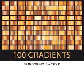 Bronze, golden big collection of gradients
