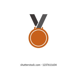 Bronze medal icon sign symbol