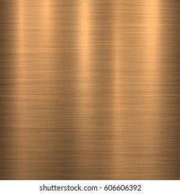 Bronze metal technology background with polished, brushed texture. Vector illustration.