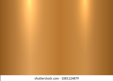 Bronze metallic texture. Shiny polished metal surface - vector background.
