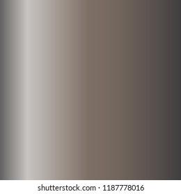 Bronze, silver, gold, chrome metal foil texture gradient template Vector. Metalllic gradient illustration gradation for backgrounds, cover, frame, banner, user interface. Vector template design