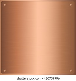 Bronze texture and background. Vector and illustration.