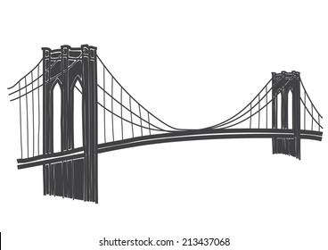 brooklyn bridge vector images stock photos vectors shutterstock rh shutterstock com brooklyn bridge skyline vector brooklyn bridge vector art