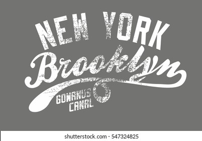Brooklyn College style graphic design vector art