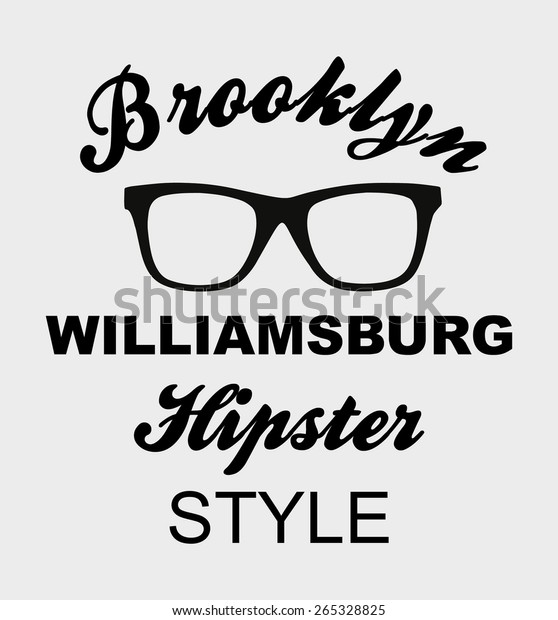 Brooklyn Hipsters Graphic Design Vector Art Stock Vector (Royalty
