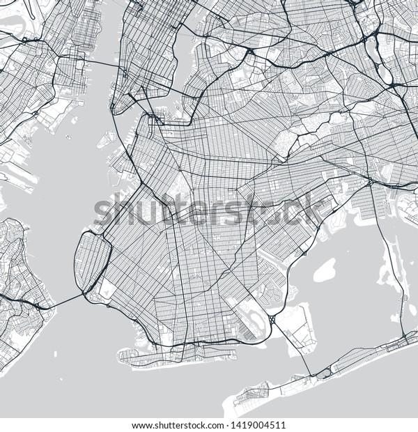 detailed map of brooklyn Brooklyn Map Light Map Brooklyn Borough Stock Vector Royalty Free detailed map of brooklyn
