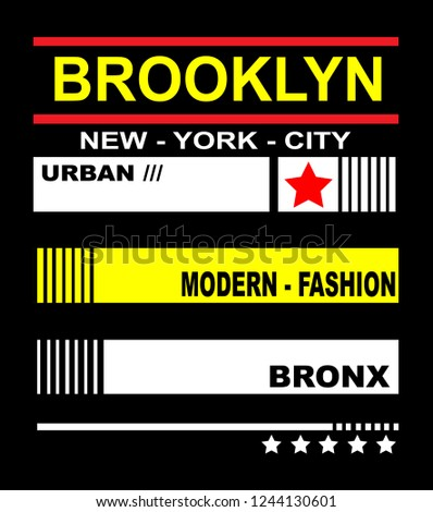 861fa1f2f BROOKLYN NEW YORK CITY URBAN MODERN Stock Vector (Royalty Free ...