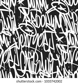 Brooklyn New York Miami California graffiti seamless pattern