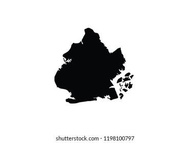 Brooklyn outline map New York city borough shape