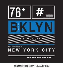 Brooklyn remix typography, t-shirt graphics, vectors