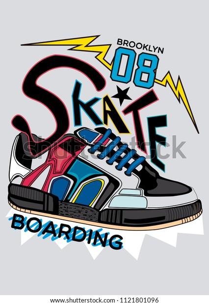 brooklyn skateboarding,t-shirt design