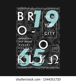 brooklyn urban graphic vector design t shirt