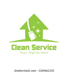 Broom Cleaning Service Logo. home clean logo. House cleaning service logo. Cleaning Service Logo.