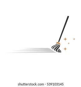 Broom Cleaning Service vector Logo template Illustration Design. Vector EPS 10.