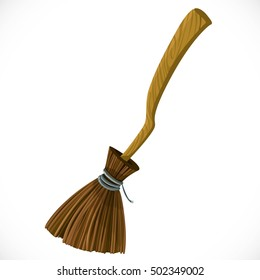 Broom for flying isolated on a white background