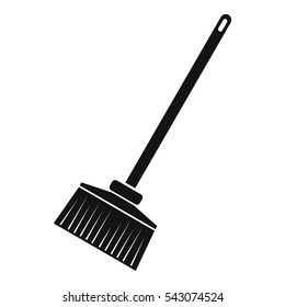 Broom icon. Simple illustration of broom vector icon for web