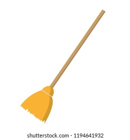 Broom isolated icon