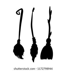 Brooms halloween set