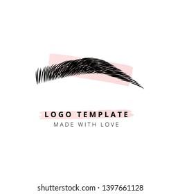The brow bar vector logo for beauty studio