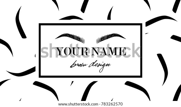picture regarding Eyebrow Stencils Printable called Forehead Layout Brand Place of work Card Template Inventory Vector
