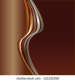 brown abstract background with wave