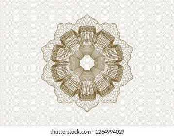 Brown abstract linear rosette