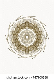 Brown abstract rosette