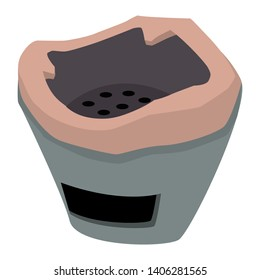 Brown aluminuim Brazier Vector Illustration