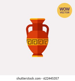 Brown antique amphora icon