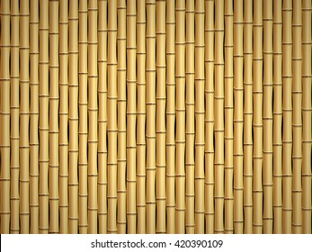 Brown bamboo stick pattern background.