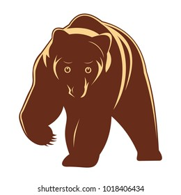 Brown bear silhouette icon vector illustration isolated on white