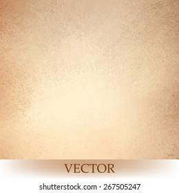 brown beige background vector, light orange or tan color design, vintage grunge texture