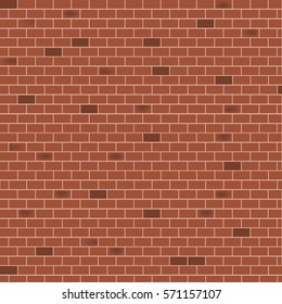 Brown brick wall background - Vector