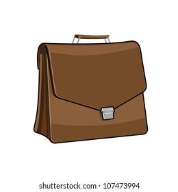 Brown Brief case, vector
